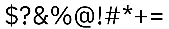 IBM Plex Sans Condensed Regular Font OTHER CHARS