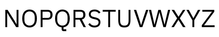 IBM Plex Sans Condensed Regular Font UPPERCASE
