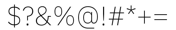IBM Plex Sans Hebrew ExtraLight Font OTHER CHARS