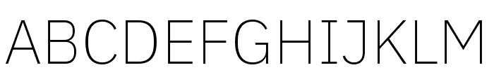 IBM Plex Sans Hebrew ExtraLight Font UPPERCASE