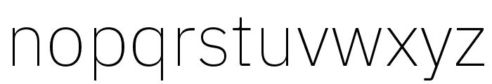 IBM Plex Sans Hebrew ExtraLight Font LOWERCASE