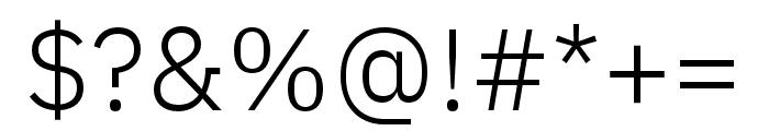 IBM Plex Sans Hebrew Light Font OTHER CHARS