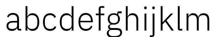 IBM Plex Sans Hebrew Light Font LOWERCASE