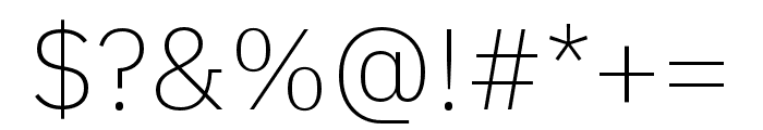 IBM Plex Sans Thai Looped ExtraLight Font OTHER CHARS