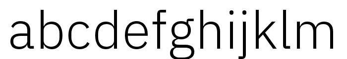 IBM Plex Sans Thai Looped Light Font LOWERCASE