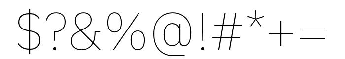 IBM Plex Sans Thai Looped Thin Font OTHER CHARS