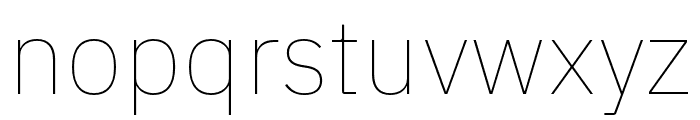 IBM Plex Sans Thai Looped Thin Font LOWERCASE