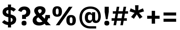 IBM Plex Thai Bold Font OTHER CHARS