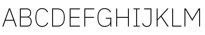 IBM Plex Thai ExtraLight Font UPPERCASE