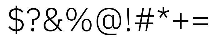 IBM Plex Thai Light Font OTHER CHARS