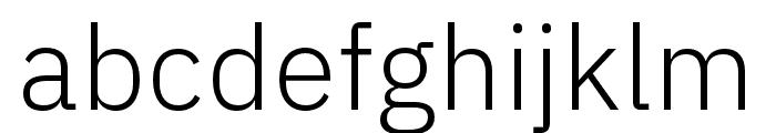 IBM Plex Thai Light Font LOWERCASE