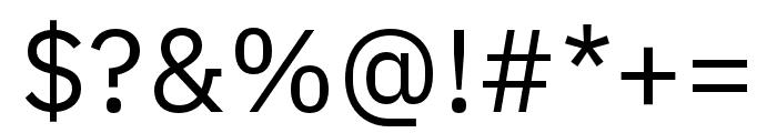 IBM Plex Thai Regular Font OTHER CHARS