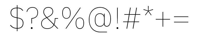 IBM Plex Thai Thin Font OTHER CHARS