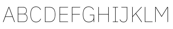 IBM Plex Thai Thin Font UPPERCASE