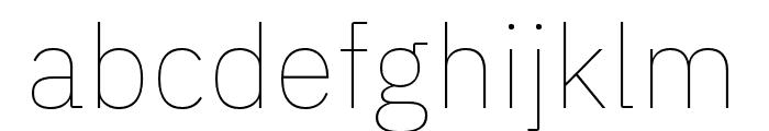 IBM Plex Thai Thin Font LOWERCASE