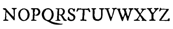 IM FELL DW Pica Regular Font UPPERCASE