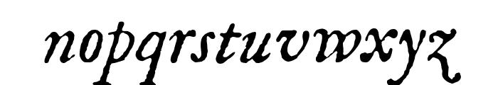 IM FELL English Italic Font LOWERCASE