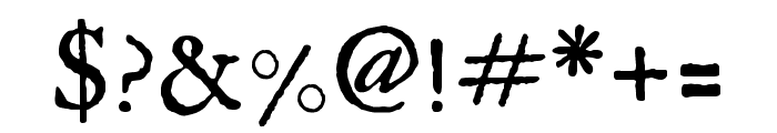 IM FELL English Regular Font OTHER CHARS