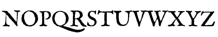 IM FELL English Regular Font UPPERCASE