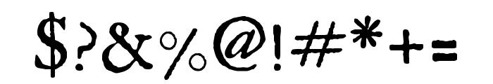 IM FELL English SC Regular Font OTHER CHARS