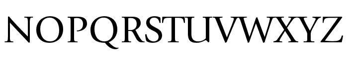 ITC Giovanni Std Book Font UPPERCASE
