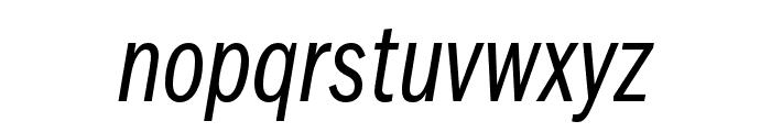 ITCFranklinGothic LT Pro CnBkIt Font LOWERCASE