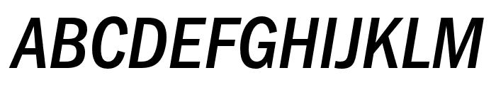 ITCFranklinGothic LT Pro CnMdIt Font UPPERCASE