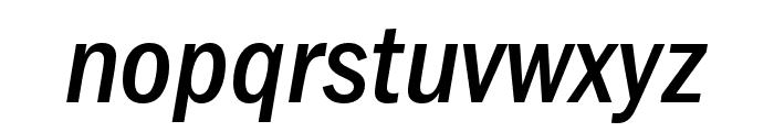 ITCFranklinGothic LT Pro CnMdIt Font LOWERCASE