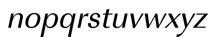 Imperial URW Extra Narrow Medium Oblique Font LOWERCASE
