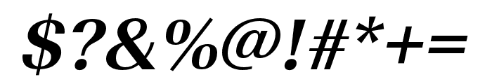 Imperial URW Narrow Bold Oblique Font OTHER CHARS