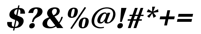 Imperial URW Narrow Extra Bold Oblique Font OTHER CHARS
