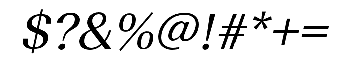 Imperial URW Wide Regular Oblique Font OTHER CHARS