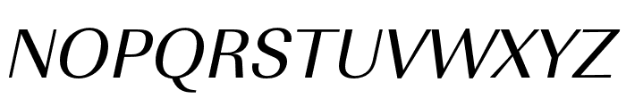 Imperial URW Wide Regular Oblique Font UPPERCASE
