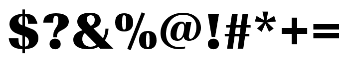 Imperial URW Wide Ultra Bold Font OTHER CHARS