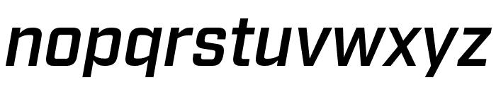 Industry Demi Italic Font LOWERCASE
