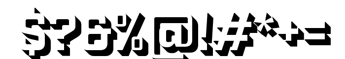 Industry Inc Inline Font OTHER CHARS