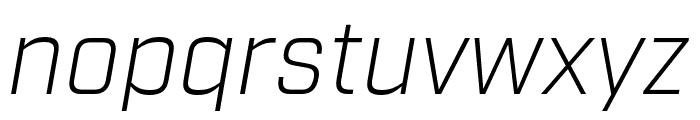 Industry Light Italic Font LOWERCASE