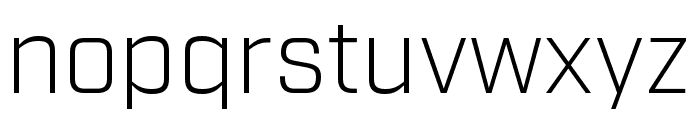 Industry Light Font LOWERCASE