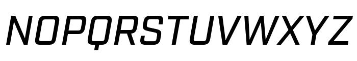 Industry Medium Italic Font UPPERCASE