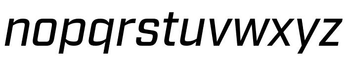Industry Medium Italic Font LOWERCASE