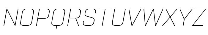 Industry Thin Italic Font UPPERCASE