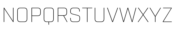 Industry Thin Font UPPERCASE