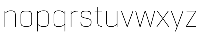 Industry Thin Font LOWERCASE