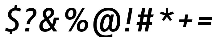 Info Text Pro Medium Italic Font OTHER CHARS