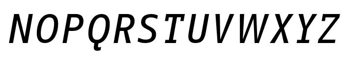 Info Text Pro Medium Italic Font UPPERCASE