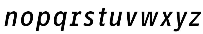 Info Text Pro Medium Italic Font LOWERCASE