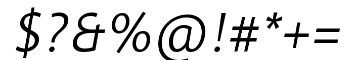 Informa Pro Bold Italic Font OTHER CHARS
