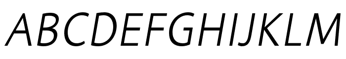 Informa Pro Bold Italic Font UPPERCASE