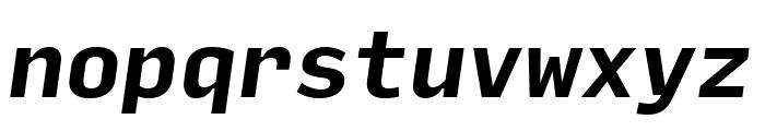 Input Mono Compressed Bold Italic Font LOWERCASE