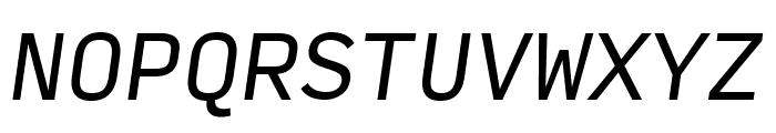 Input Mono Compressed Italic Font UPPERCASE
